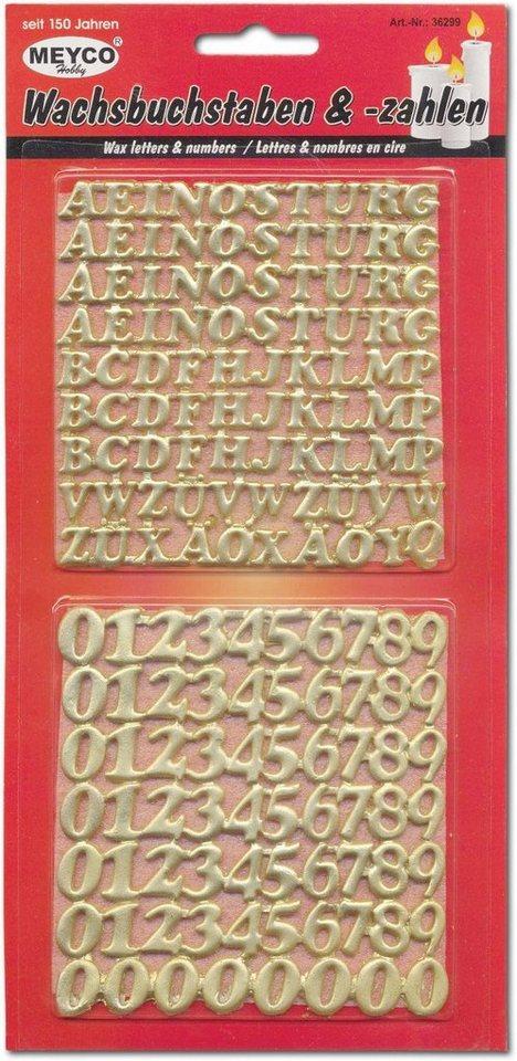 """Wachsset """"Zahlen & Buchstaben"""""""