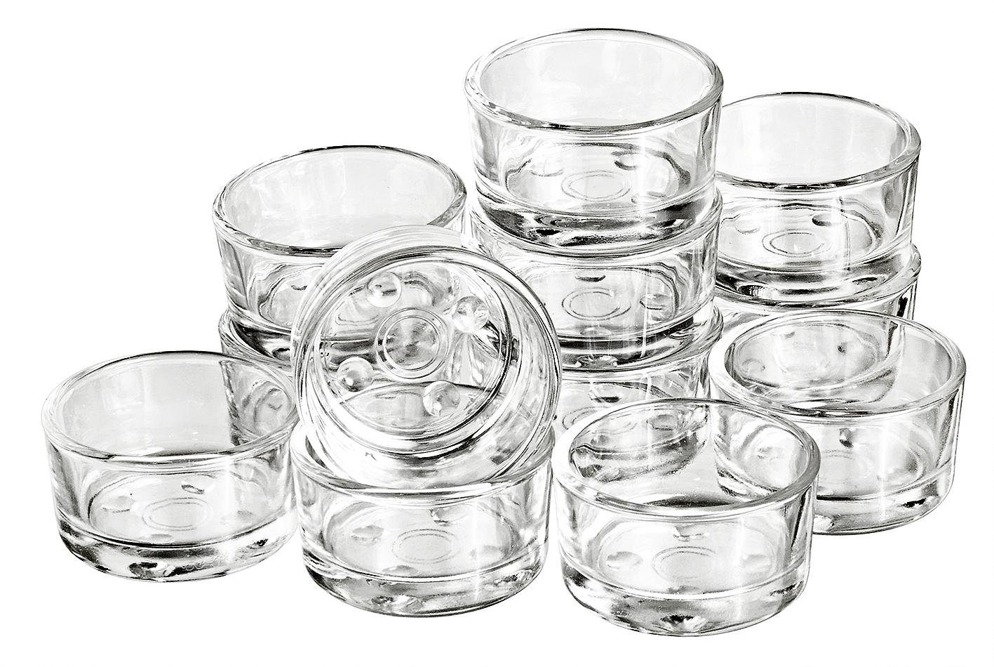 VBS Teelichtgläser klar 12 Stück