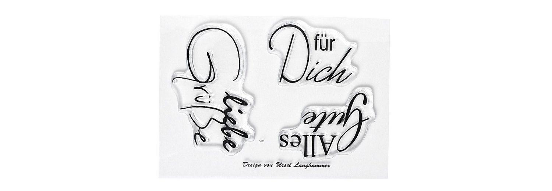 """Clear Stempel-Set """"Liebe Grüße"""""""