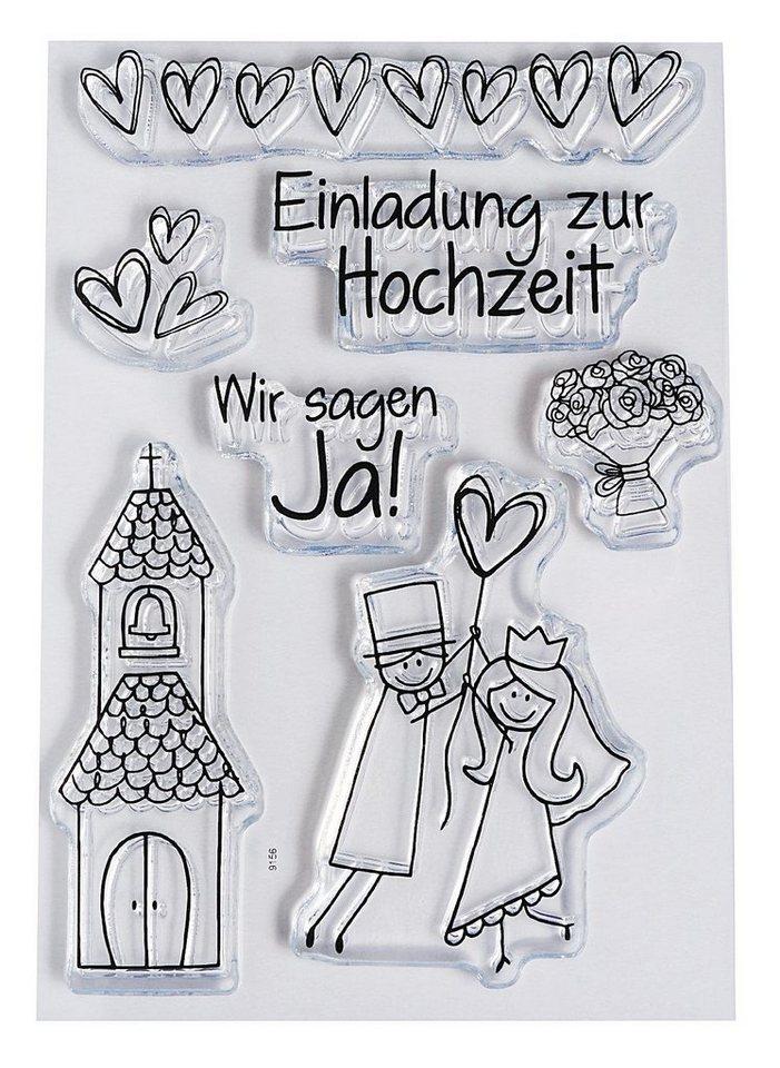 """Clear Stempel-Set """"Hochzeit"""""""