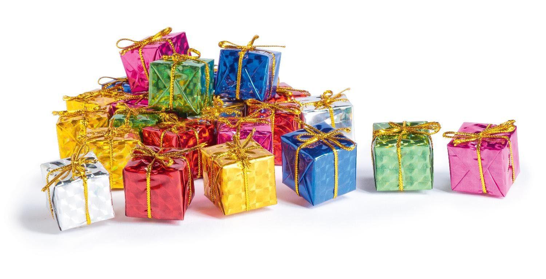 24 Deko-Geschenkpäckchen