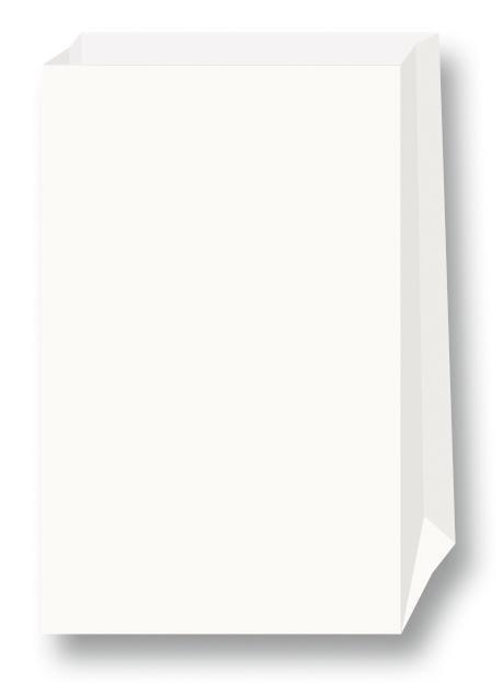 Papiertüten, Blockboden, weiß