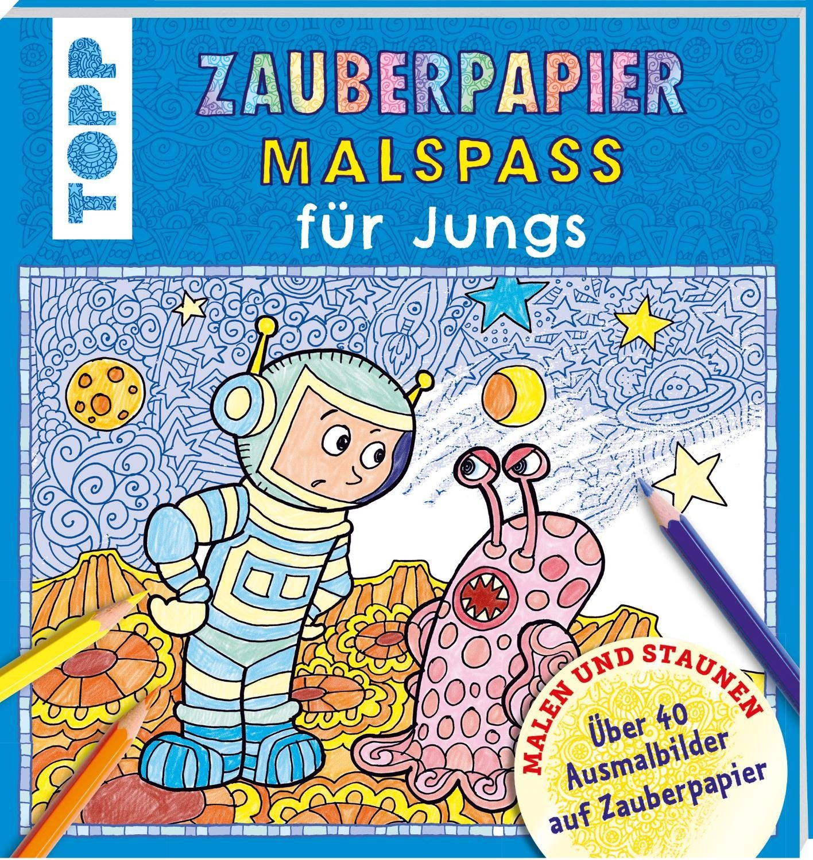 "Topp Buch ""Zauberpapier Malspass - für Jungs"""