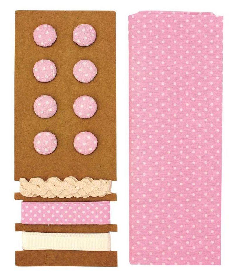 "Textilset ""Lili Rose"", Punkte rosa"