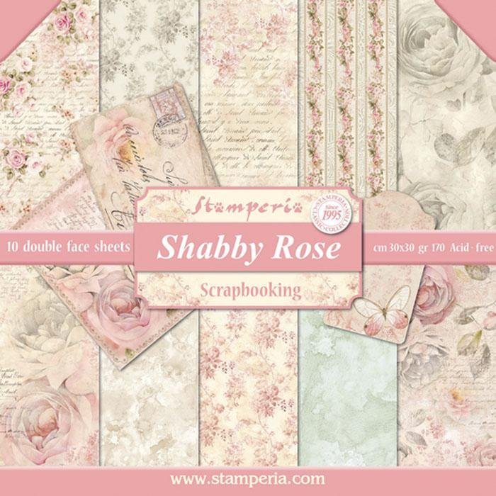 "Scrapbook-Block ""Shabby Rose"""