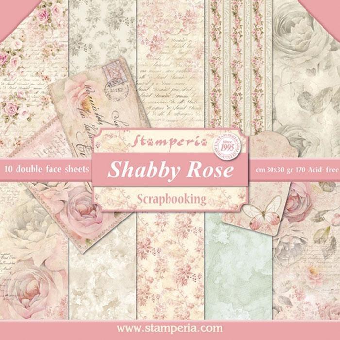 "Stamperia Scrapbook-Block ""Shabby Rose"""