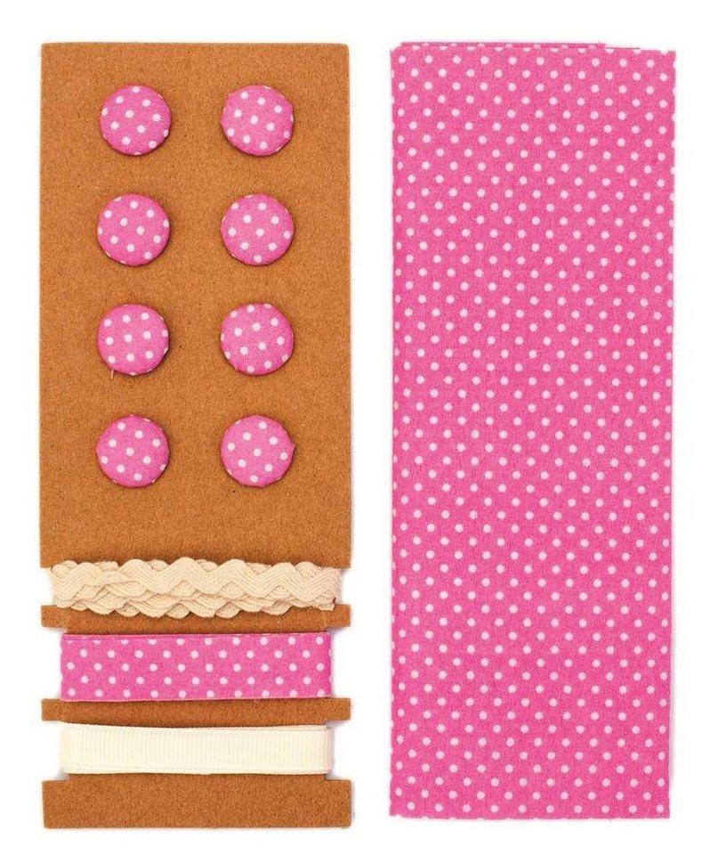 """Textilset """"Lili Rose"""", Punkte pink"""