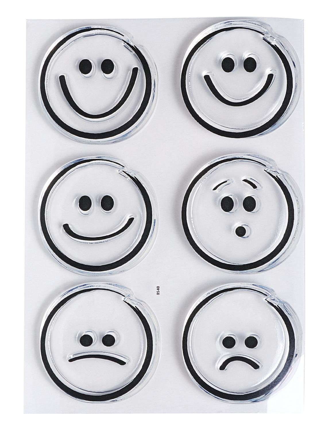 "Clear Stempel-Set ""Emoticons"""