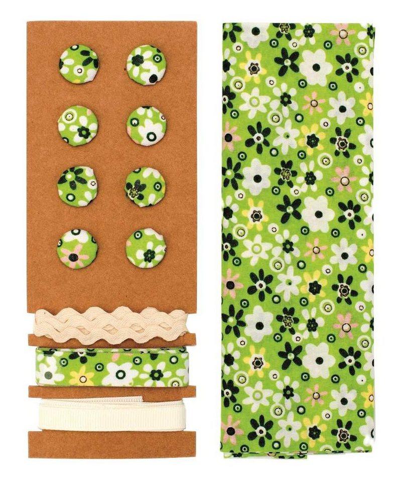 """Textilset """"Lili Rose"""", Blumenmix grün"""
