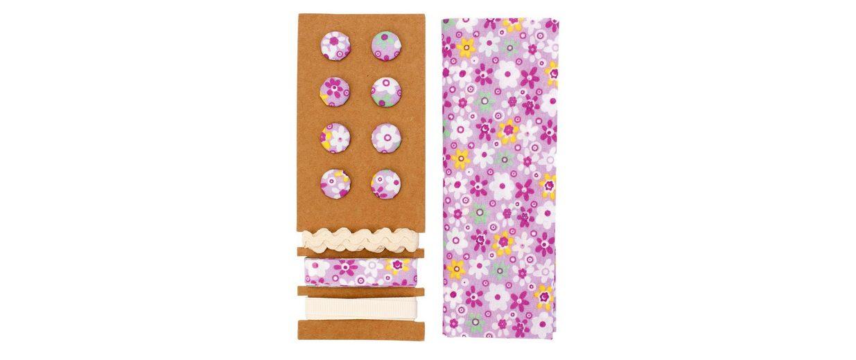 """Textilset """"Lili Rose"""", Blumenmix lila"""