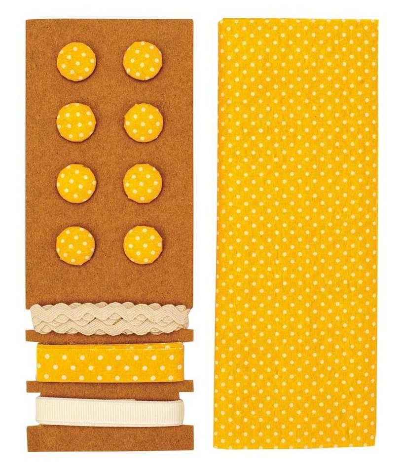 "Textilset ""Lili Rose"", Punkte gelb"