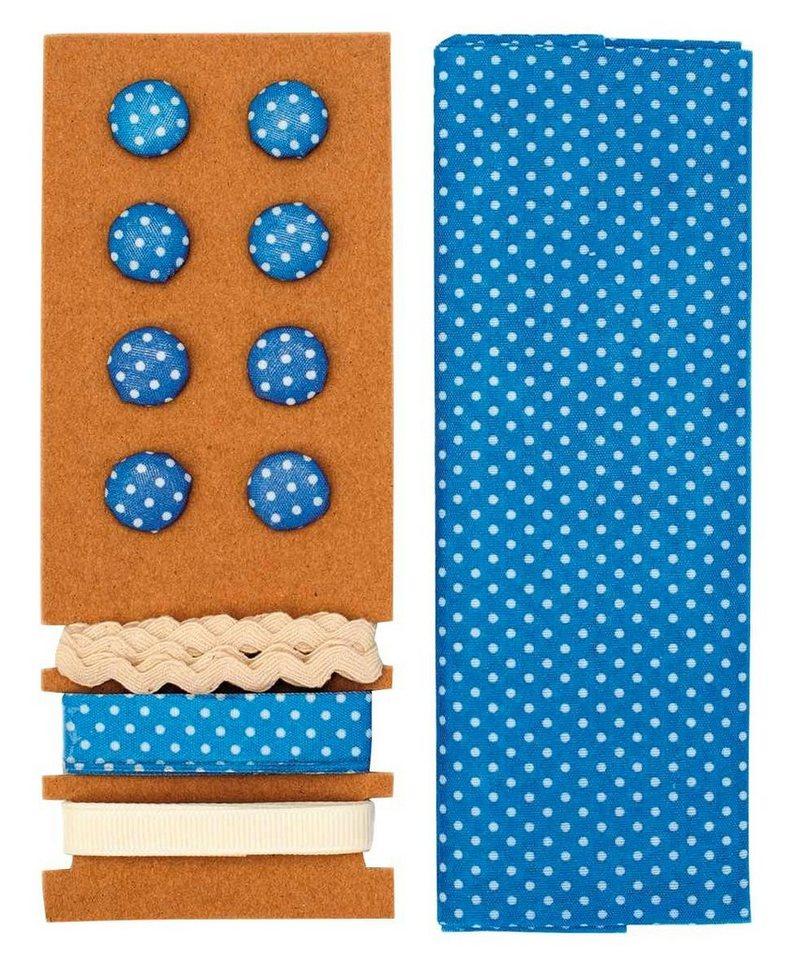 "Textilset ""Lili Rose"", Punkte blau"