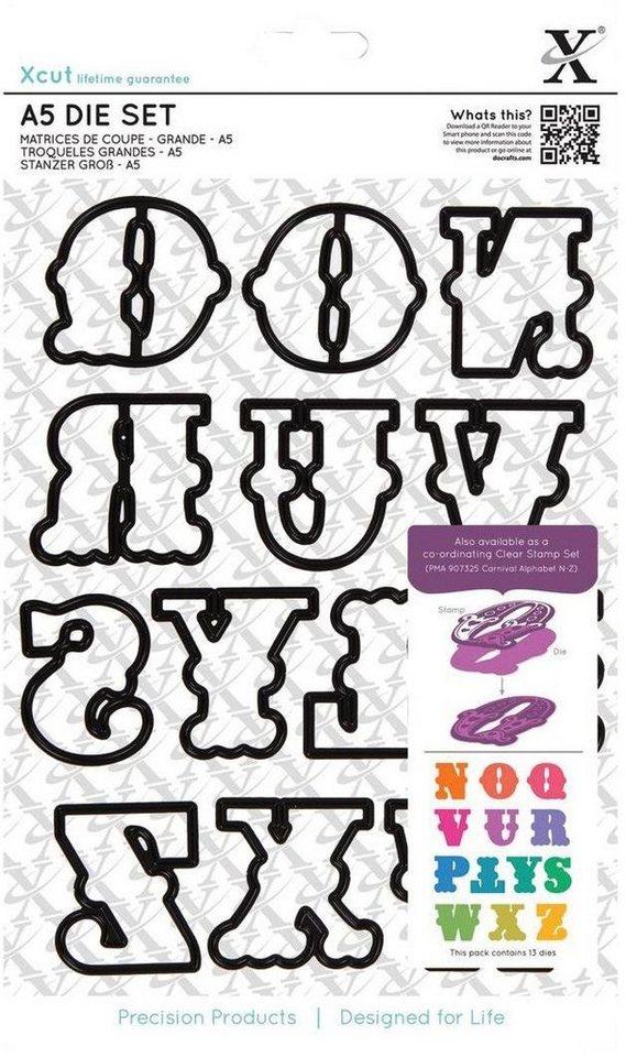 """Stanzschablonen-Set """"Alphabet N-Z"""""""
