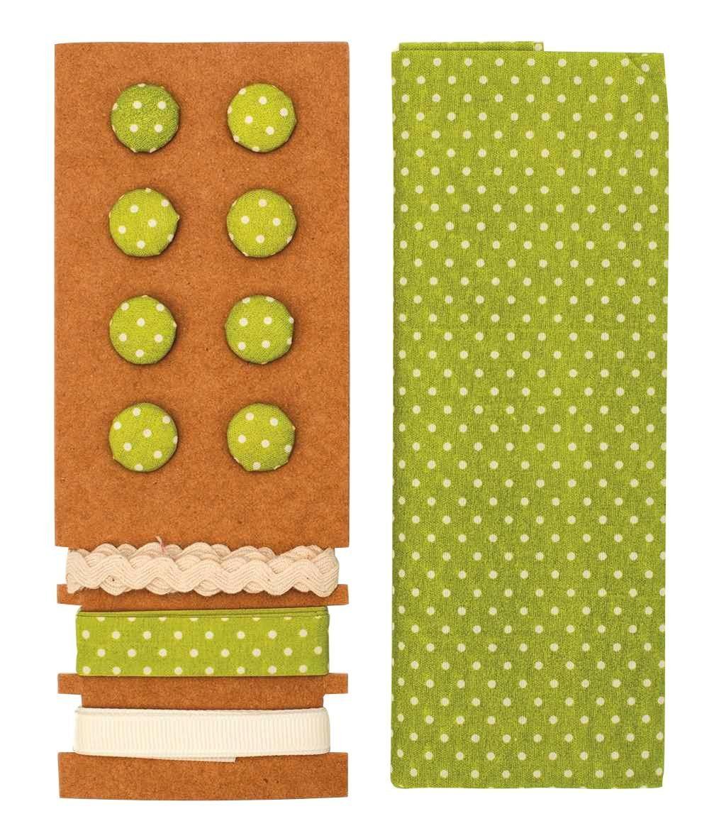 """Textilset """"Lili Rose"""", Punkte grün"""