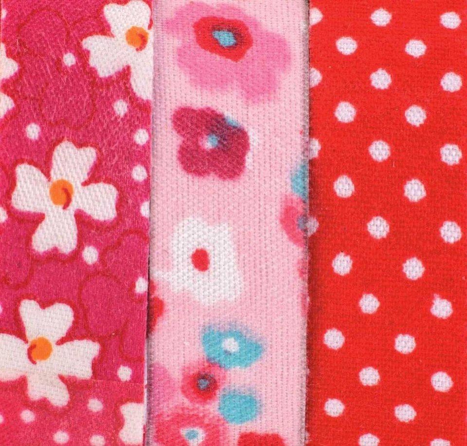 """Textilbänder LIli Rose """"Blumen und Punkte"""", rot"""