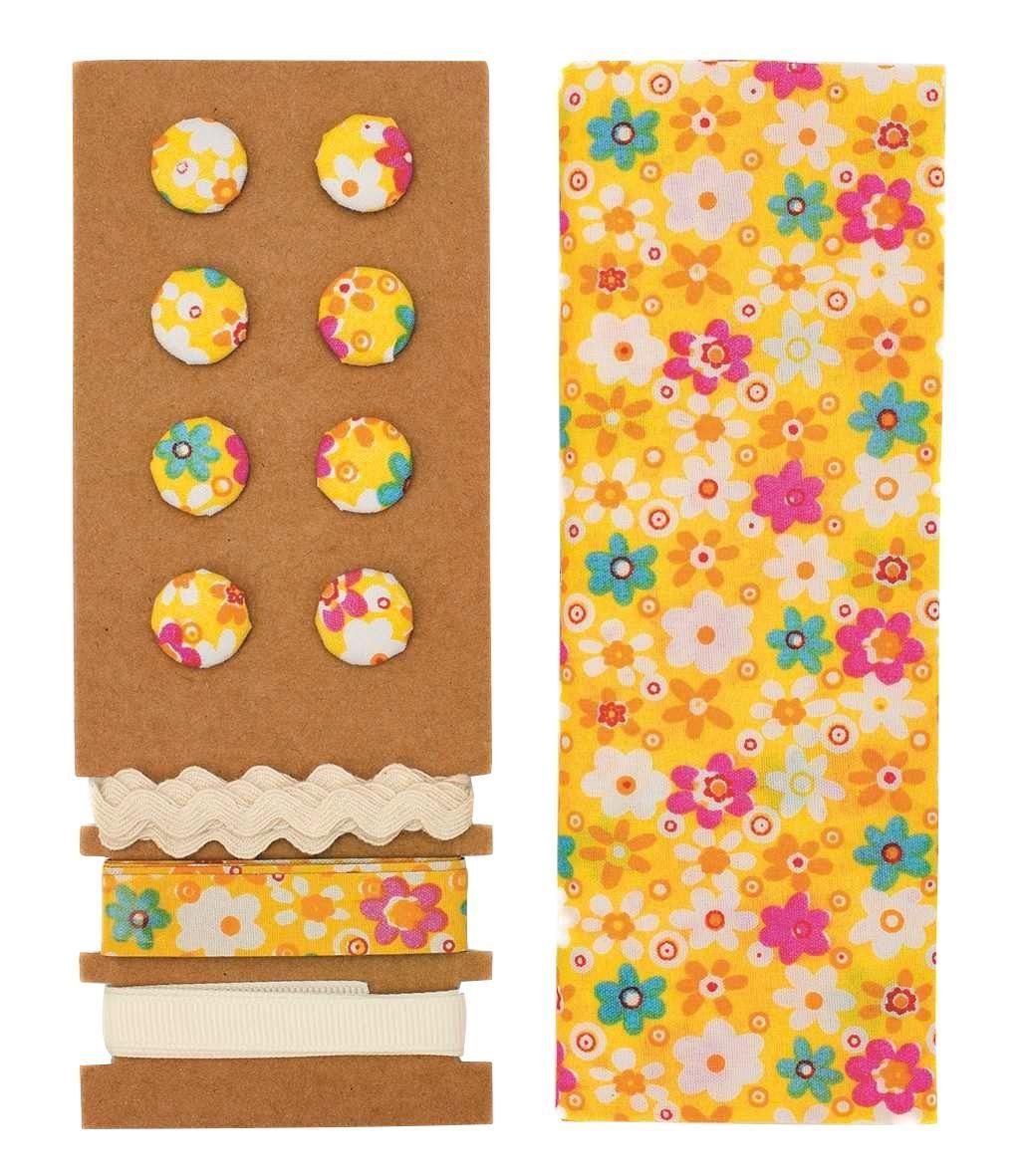"Textilset ""Lili Rose"", Blumenmix gelb"
