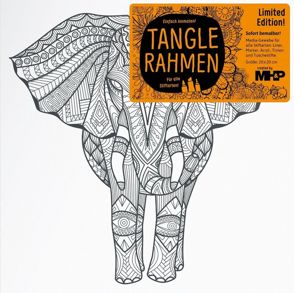 "Tangle Rahmen ""afrik. Elefant"""