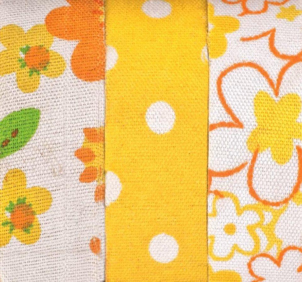 """Textilbänder Lili Rose """"Blumen und Punkte"""", gelb"""