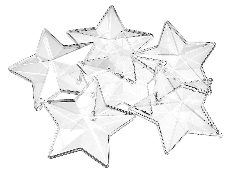 VBS Acryl-Stern, 6er-Pack, Ø 8 cm