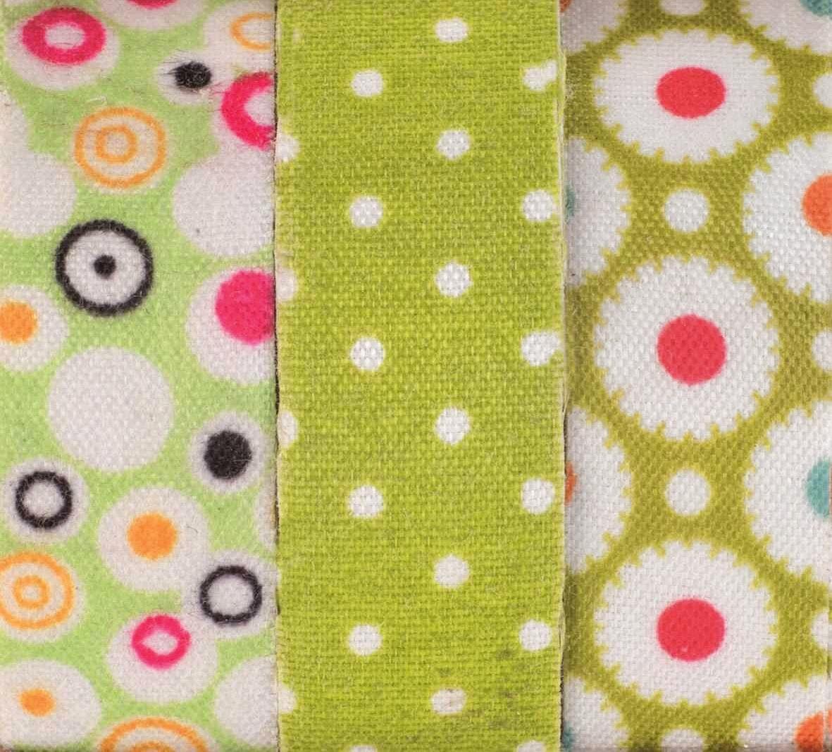 """Textilbänder Lili Rose """"Blumen und Punkte"""", grün"""
