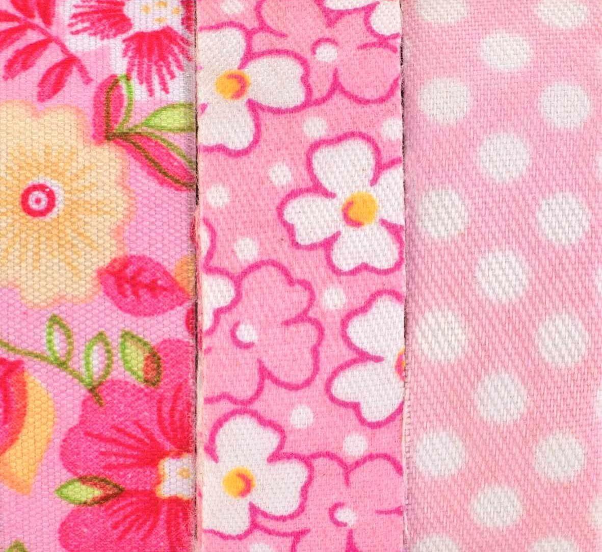 """Textilbänder Lili Rose """"Blumen und Punkte"""", rosa"""
