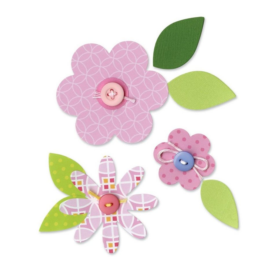 "Sizzix Bigz Stanzschablone ""Flowers, Layers & Leaves"""