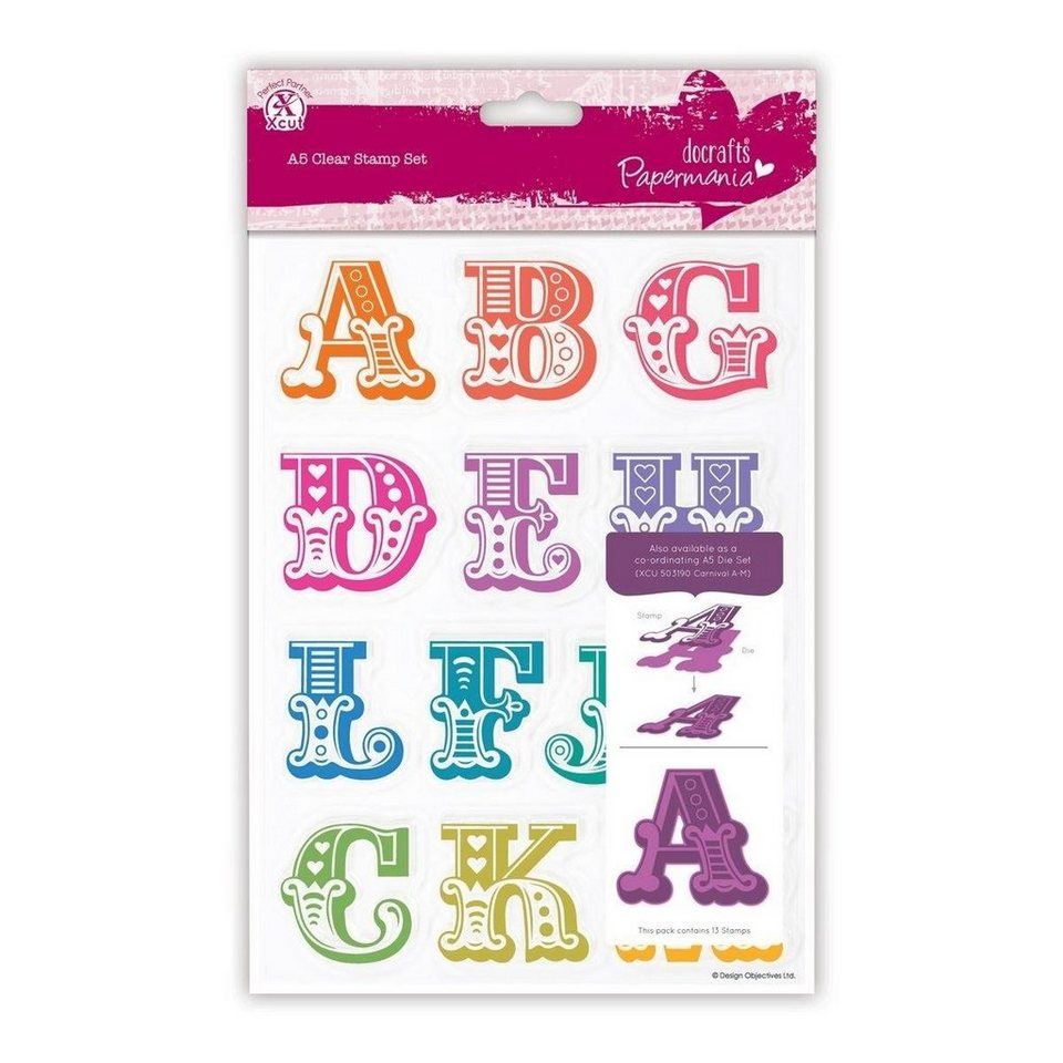 "Stempel-Set ""Alphabet A-M"""