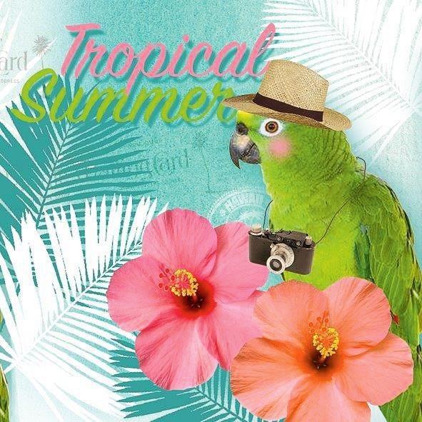 """Serviette """"Tropical"""""""