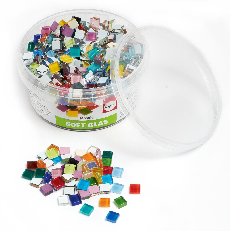 525 Stk Glas- Mosaiksteine Soft-Glas Mosaik