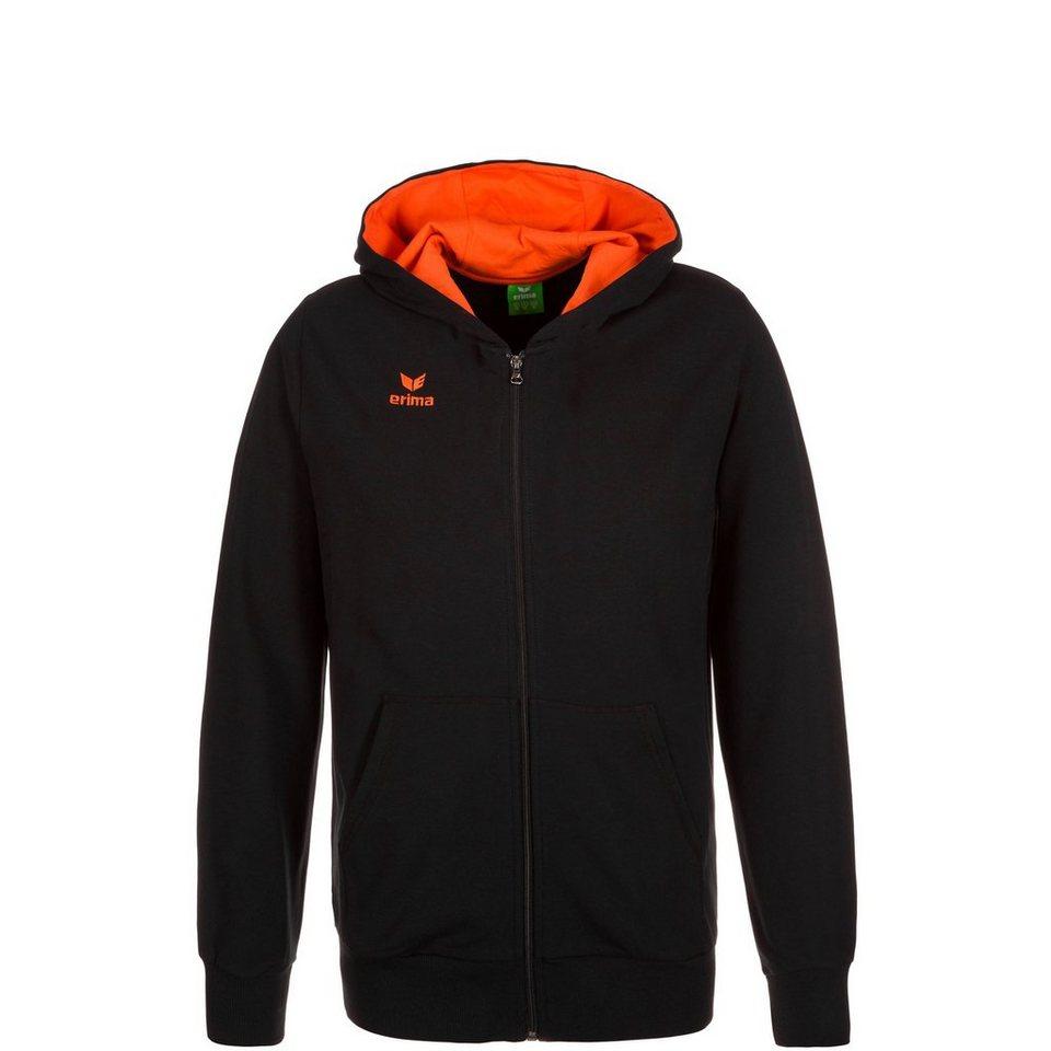 ERIMA GRAFFIC 5-C Sweatjacke Kinder in schwarz/orange