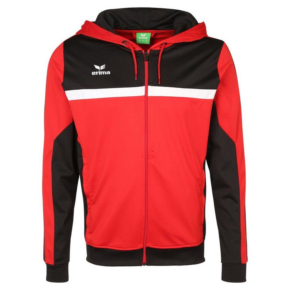 ERIMA 5-CUBES Trainingsjacke mit Kapuze Herren in rot/schwarz/weiß