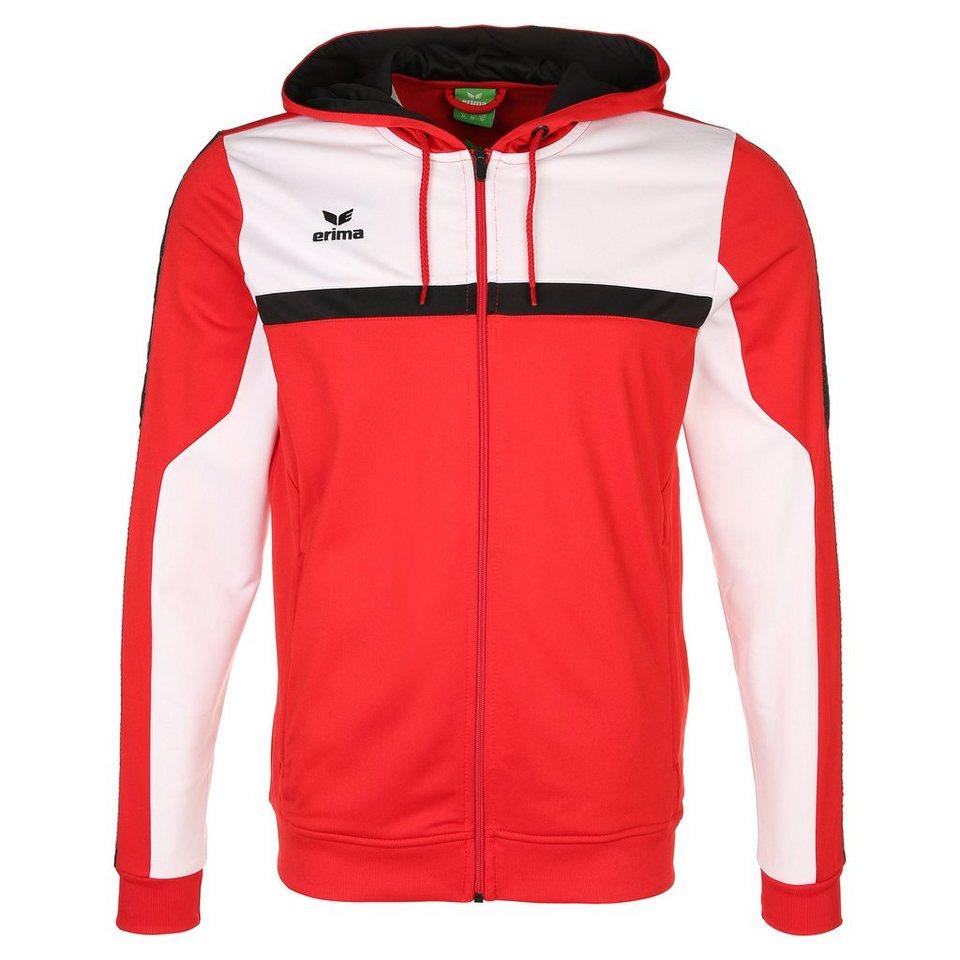 ERIMA 5-CUBES Trainingsjacke mit Kapuze Herren in rot/weiß/schwarz
