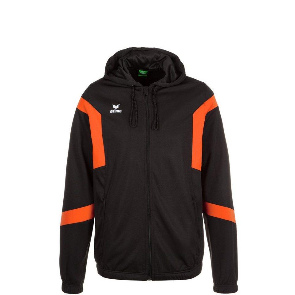 ERIMA Classic Team Trainingskapuzenjacke Kinder in schwarz / orange