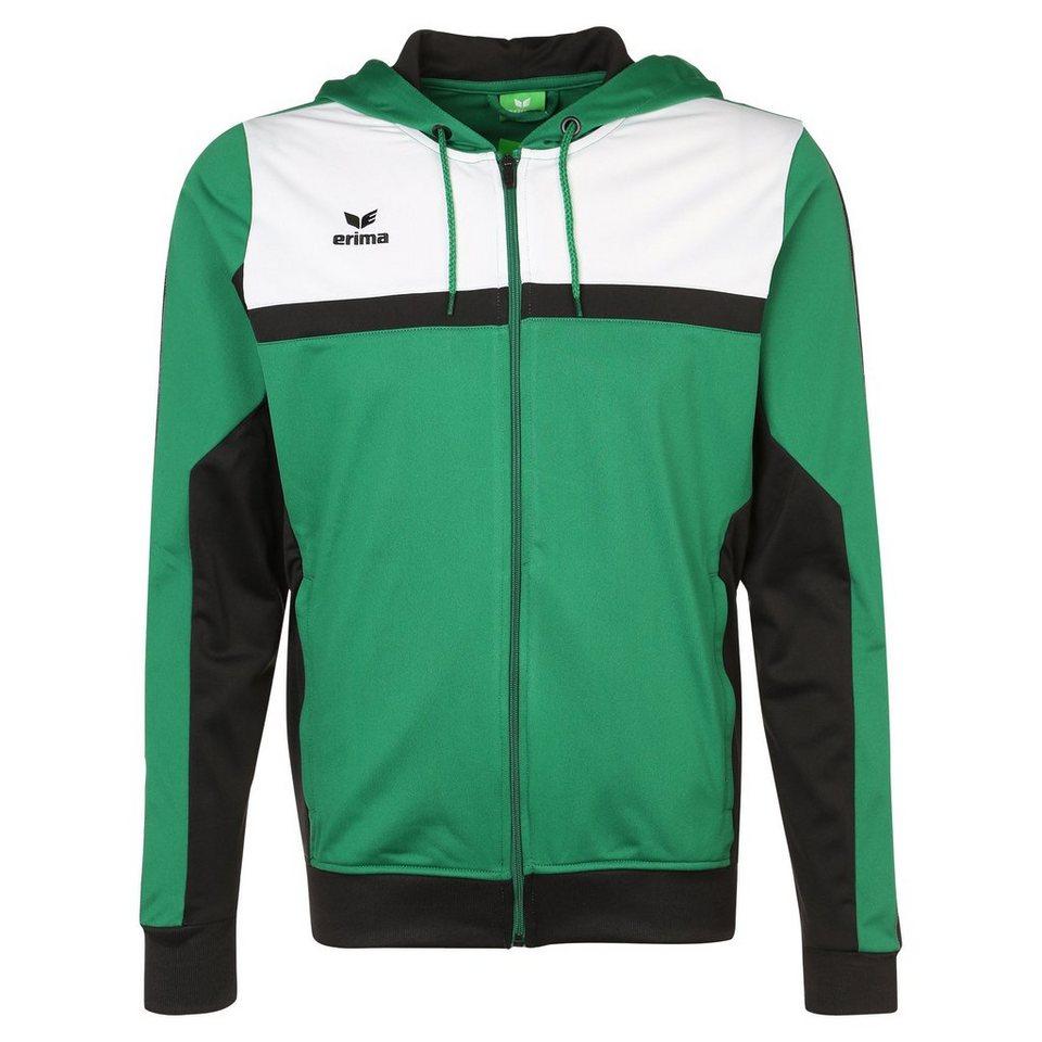 ERIMA 5-CUBES Trainingsjacke mit Kapuze Herren in smaragd/schwarz/weiß