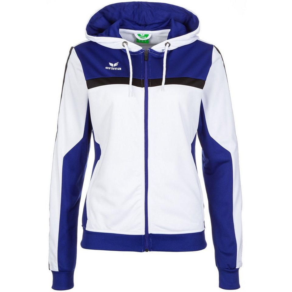 ERIMA 5-CUBES Trainingsjacke mit Kapuze Damen in weiß/blau/schwarz