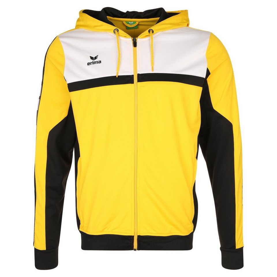 ERIMA 5-CUBES Trainingsjacke mit Kapuze Herren in gelb/schwarz/weiß