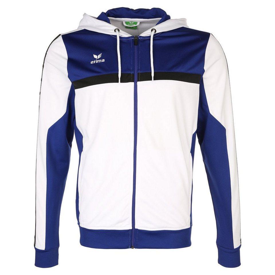 ERIMA 5-CUBES Trainingsjacke mit Kapuze Herren in weiß/blau/schwarz