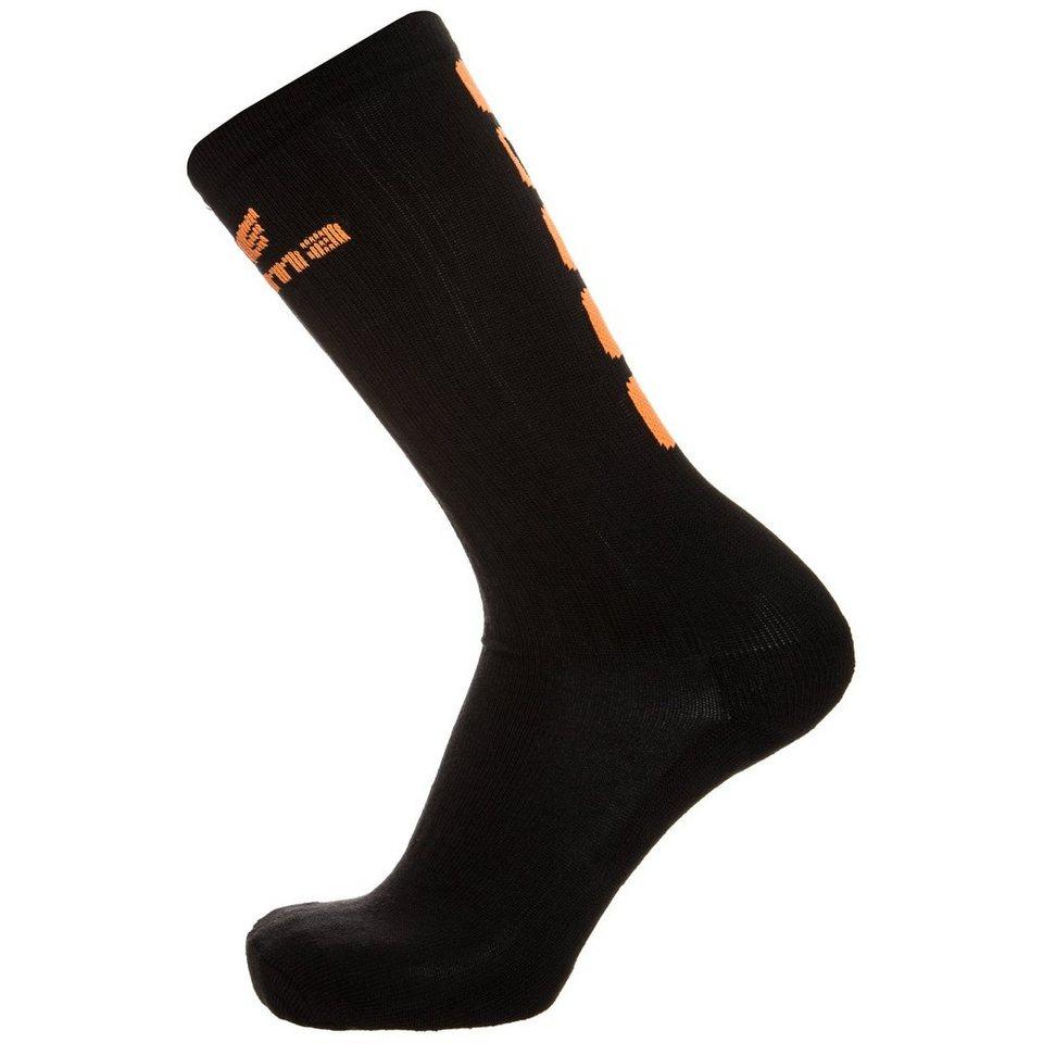 ERIMA 5-CUBES Socke lang in schwarz/orange