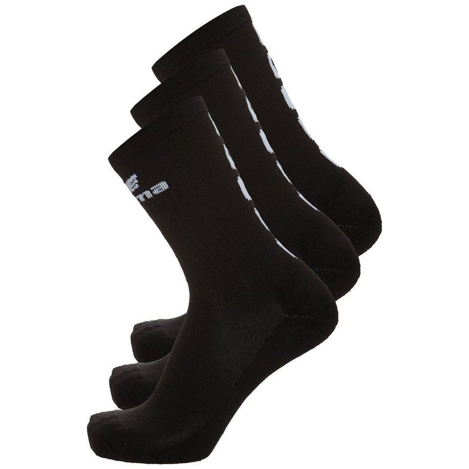 ERIMA 5-CUBES Socken 3er Pack in schwarz/weiß