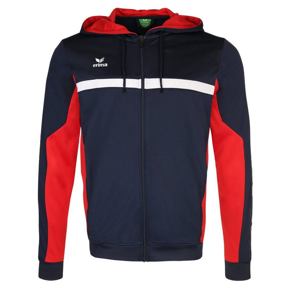 ERIMA 5-CUBES Trainingsjacke mit Kapuze Herren in new navy/rot