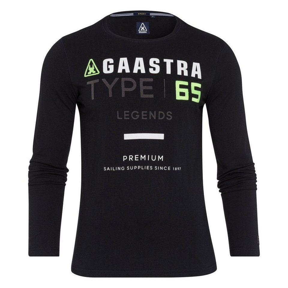 Gaastra Langarmshirt in schwarz