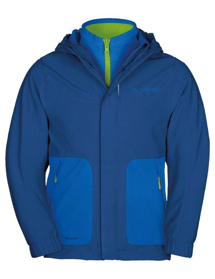VAUDE Outdoorjacke »Campfire IV 3in1 Jacket Kids« in blau