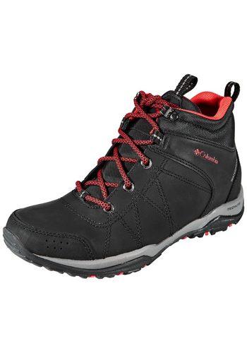 Damen Columbia Freizeitschuh Fire Venture Shoes Women Mid WP schwarz   00888667739293