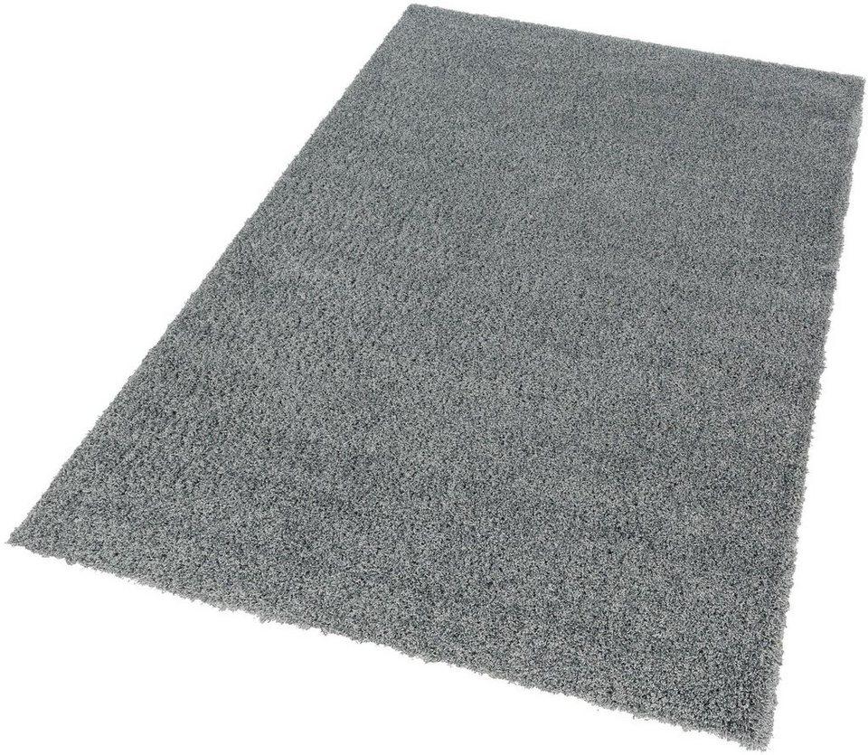 Hochflor-Teppich, Schöner Wohnen, »Energy«, Höhe 45 mm, gewebt, Wunschmaß in blau