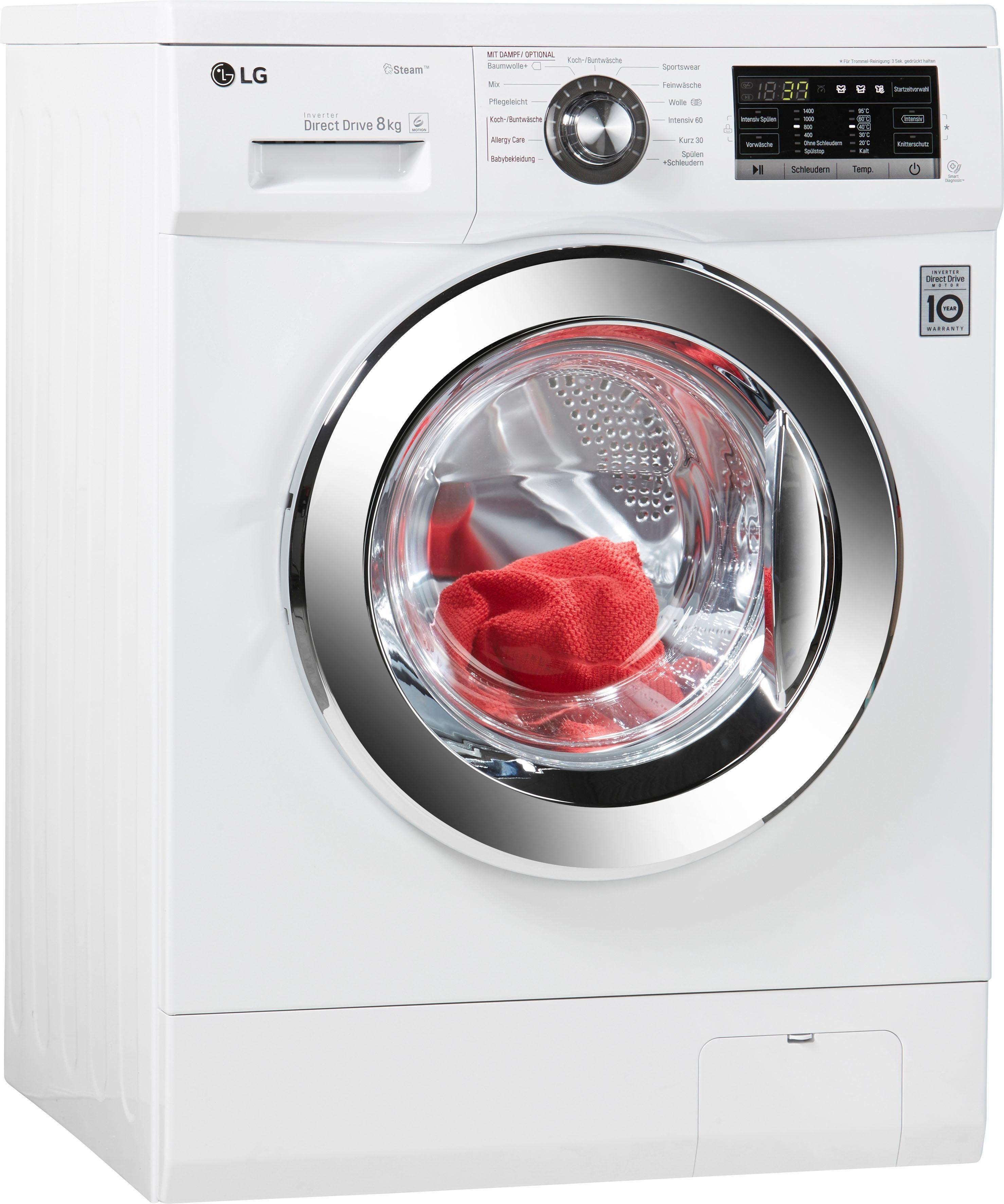 LG Waschmaschine F 14G6 TDY2H, A+++, 8 kg, 1400 U/Min