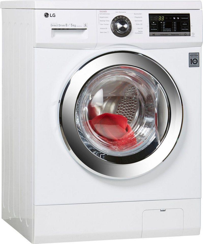 LG Waschtrockner F 14G6 TDM2NH, A, 8 kg / 5 kg, 1400 U/Min in weiß
