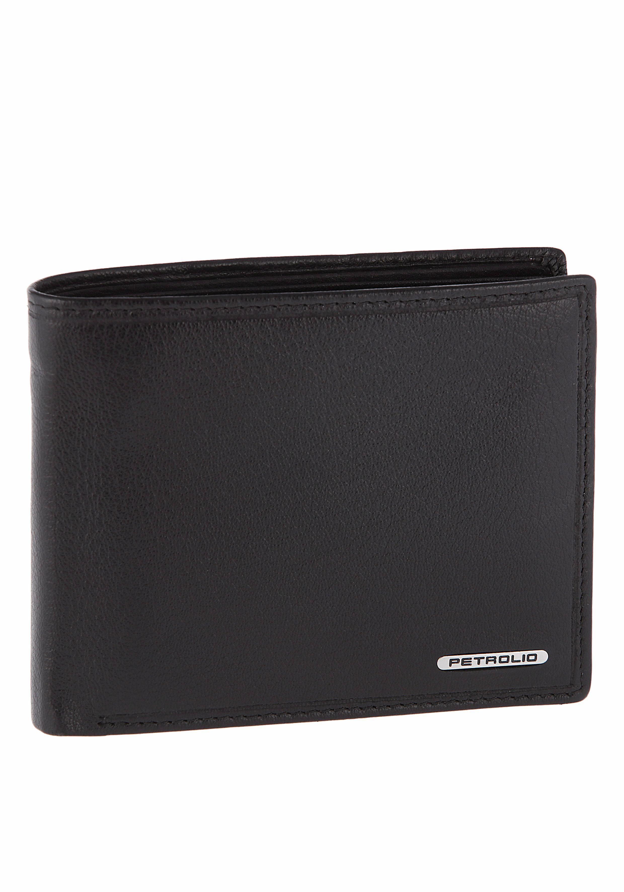 PETROLIO Geldbörse, aus echtem Leder in praktischer Geschenkbox