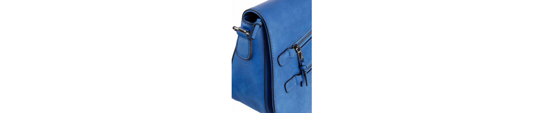 Laura Scott Umhängetasche, Saddle Bag mit modischen Zippern