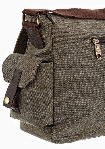 PETROLIO Messenger Bag, mit gepolstertem Laptopfach