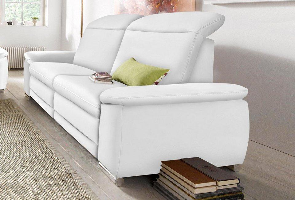 RAUM.ID 3-Sitzer, wahlweise mit Relaxfunktion und Rückenverstellung in weiß